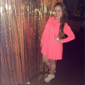 Glamorous Neon Coral Dress